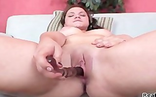 thick brunette girl cums hard from part0