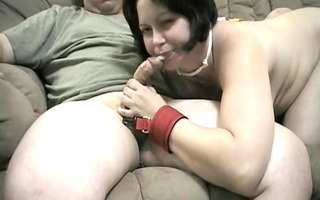 alluring mommy engulfing husbands cock