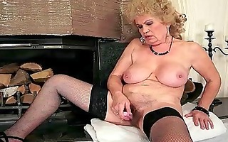 nasty breasty granny masturbating
