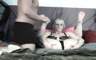 sexy fetish movie scene with feet fucking