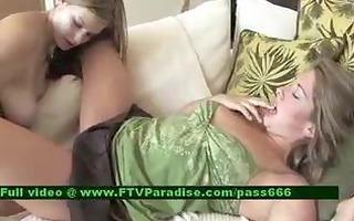 beautiful lesbos toying