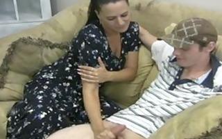 lustful mother gives tugjob