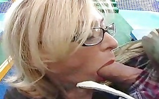 titty mature bitch receives wild pecker in her