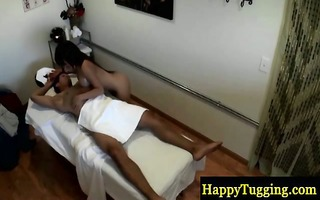 real oriental masseuse giving head