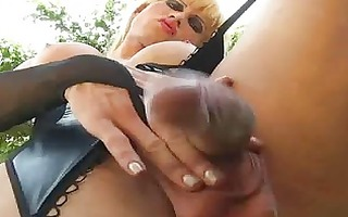 perverted shemale outdoor masturbation