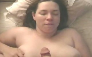 breasty creamed on her neck!