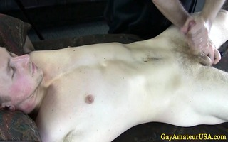 str fellow lets homosexual pal toy his rod