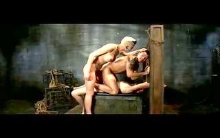 top lady-man dominates mates real coarse... have