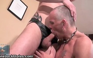 sexually excited homosexual bareback fucking and