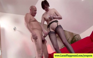 aged stocking mother i tugging and sucking