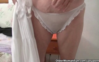 granny with big tits wears hose as she is bonks a