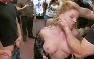 hot little breasty golden-haired acquires bound