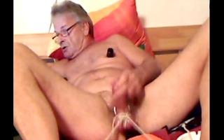perverted aged cbt balls bound nipp pumper silver