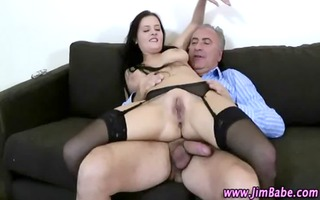 hot nylons wench acquires a spunk flow