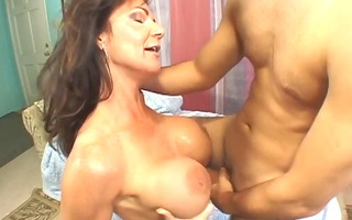 large tits cougar group-fucked by younger .guy