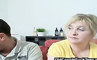 mature couple seduces newlyweds