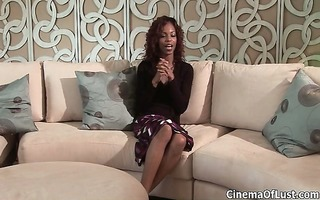 sexy ebony floozy acquires her cunt finger part6