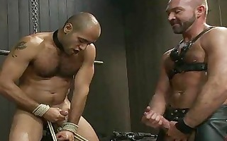slim homosexual fellow tortured by his horny
