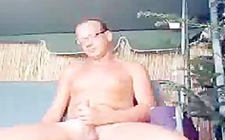 german chap jack off garden outdoor homo porn