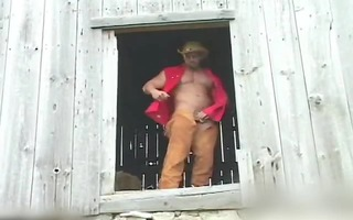 built cowboy shows his sexy body