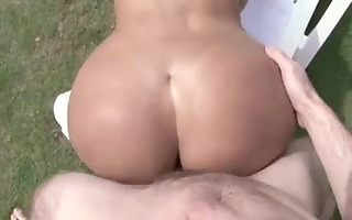 latin chick with massive mounds suffers