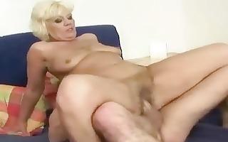 juvenile dude copulates nasty fat granny