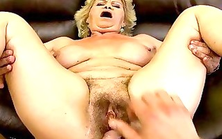 granny does blowjob and acquires screwed