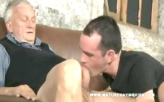 hawt youthful chap acquires drilled by older daddy