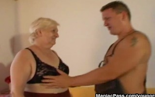 this granny is bulky and lascivious