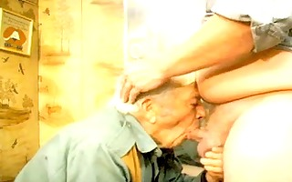 face fucking old man