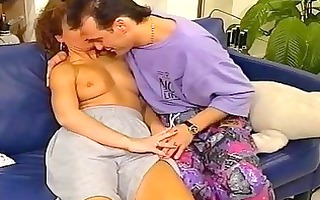 shaggy vintage redhead receives pussy...