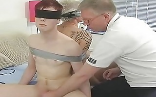 older homosexual dad ties randy twinks and engulf