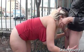 french chubby aurelie drilled outdoor