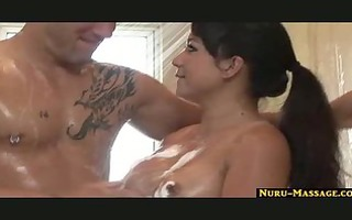 soapy dick massage