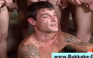 homo bukkake loving twink sucks and bonks hard