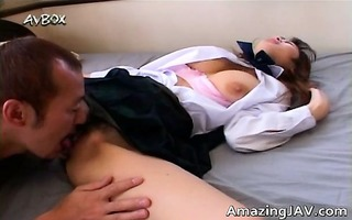 hawt breasty asian receives her milk cans licked