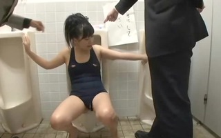 gal fastened on public wc used