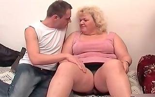 lad and bulky granny masturbating