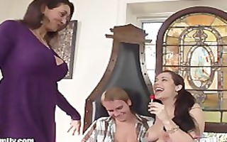 mommy and daughter cocksucking contest with