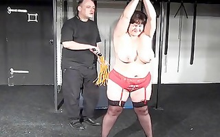 breasty bbw andreas hardcore breast whipping and