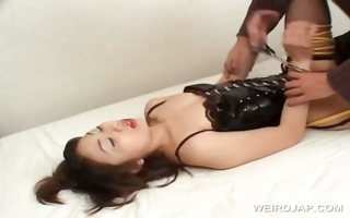 fastened up sexually excited oriental acquires
