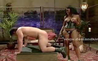 tied sex slaves get spanked and drilled by