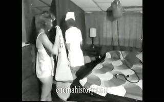 nurse giving enema