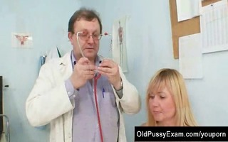 large tits blonde mature hirsute cunt exam