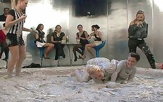 lascivious lesbian harlots at mud wrestling