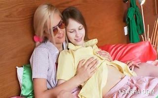 lesbian angel sasha teasing beatas hawt breasts