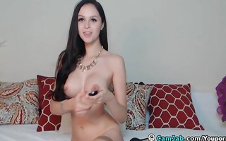 large mounds angel makes a loud agonorgasmos