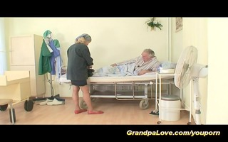 grandpapa is drilled by hawt nurse