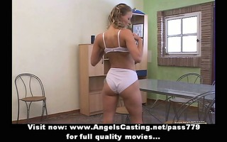 agreeable dilettante blond honey undressing and