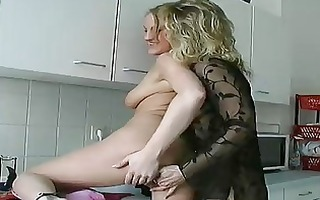 german lesbian babes take a break from dishes